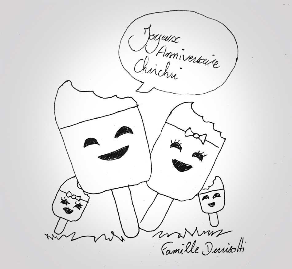 07 sept 2019 - anniversaire Christelle - 40 ans - dessin - vivien - durisotti - design - experience - un - jour - un - dessin