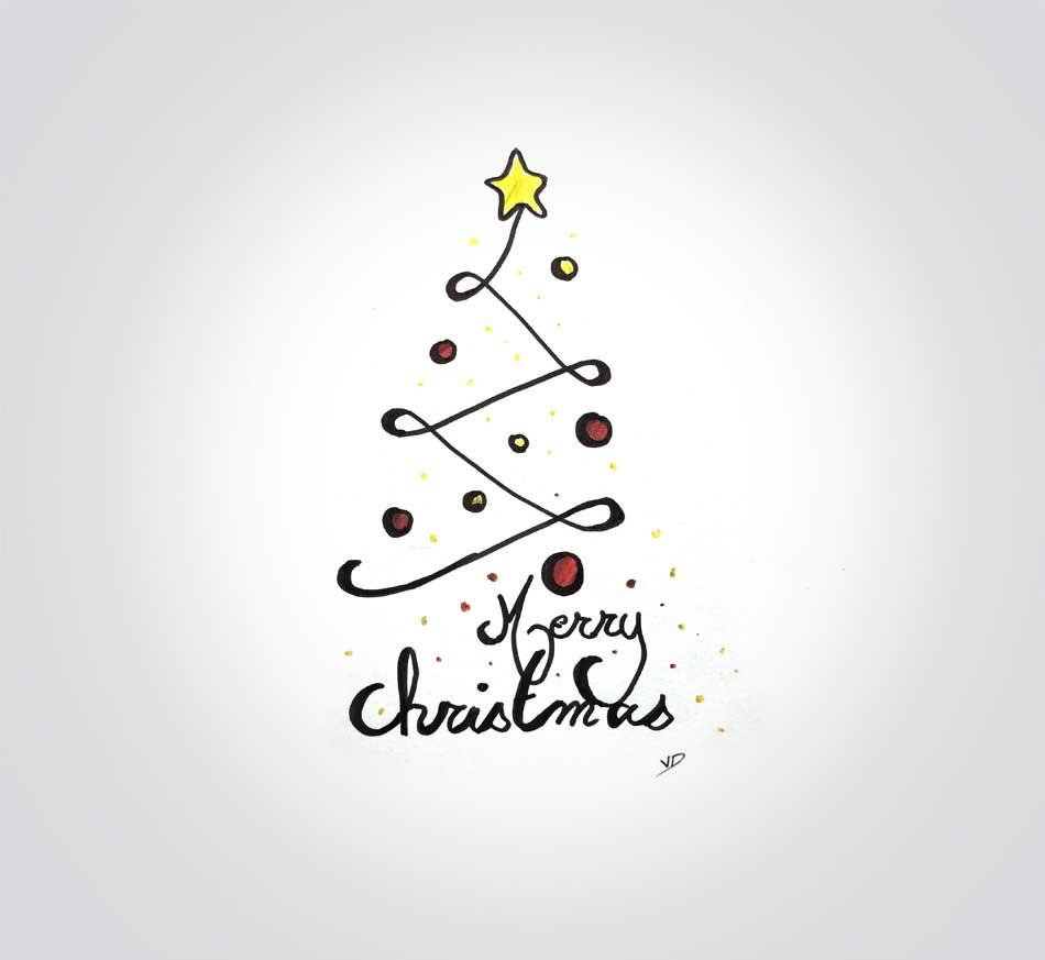 mardi 24 décembre - merry christmas - dessin - vivien - durisotti - design - experience - un - jour - un - dessin