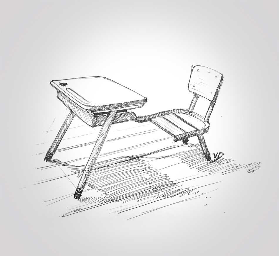 10 sept 2019 - retour sur les bancs de l'école - dessin - vivien - durisotti - design - experience - un - jour - un - dessin