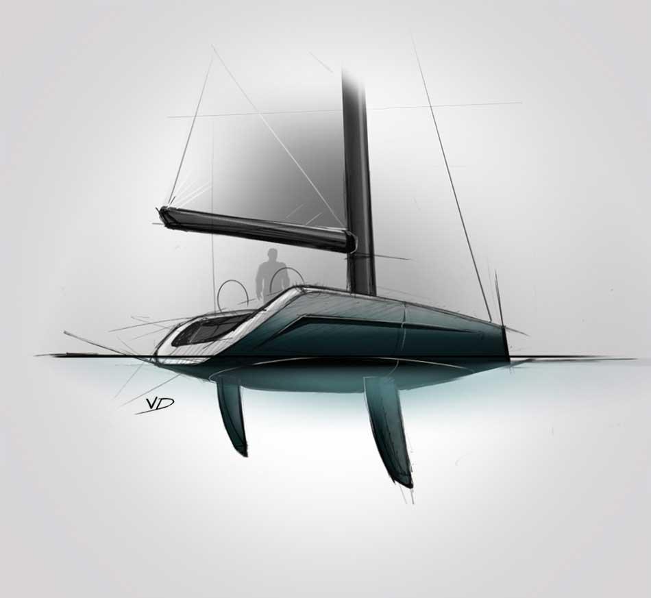 Sail - sketch - 2019 - recherches - stylos - feutres - pantones - vivien - durisotti - design - experience
