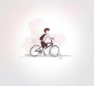 12 septembre 2021 - 1ere sortie vélo Ezio - design - experience - un - jour - un - dessin - dessin - vivien - durisotti - design - experience - un - jour - un - dessin
