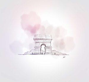 24 septembre 2021 - Arc de Triomphe - Christo - design - experience - un - jour - un - dessin - dessin - vivien - durisotti - design - experience - un - jour - un - dessin