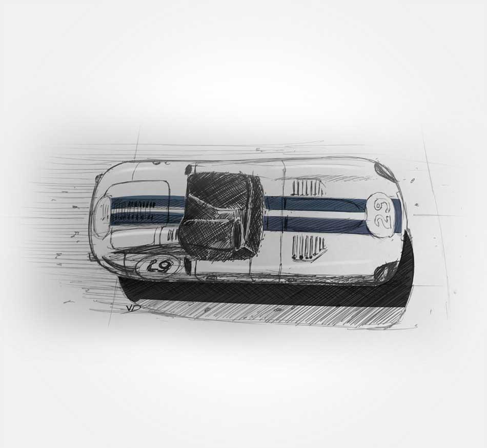 17 - sept - le mans classic - dessin - vivien - durisotti - design - experience - un - jour - un - dessin