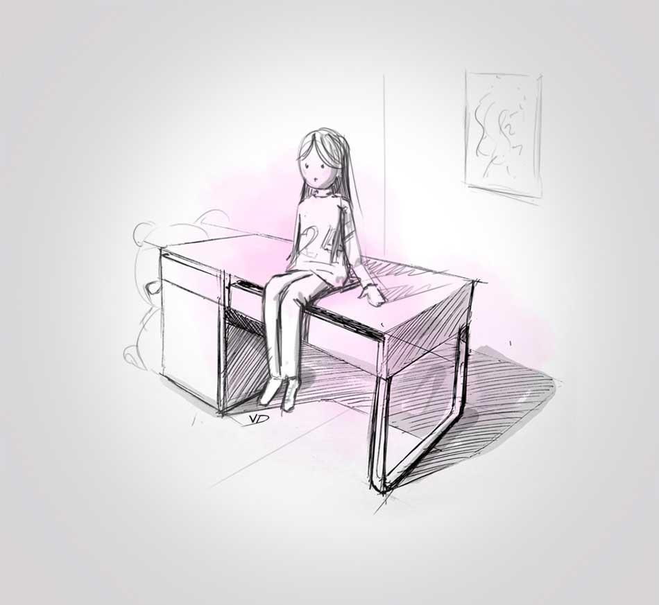 29 septembre - chambre Elise terminée !!! - dessin - vivien - durisotti - design - experience - un - jour - un - dessin
