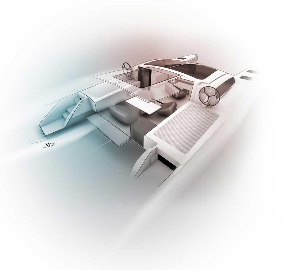 30 septembre - recherches catamarans - dessin - vivien - durisotti - design - experience - un - jour - un - dessin