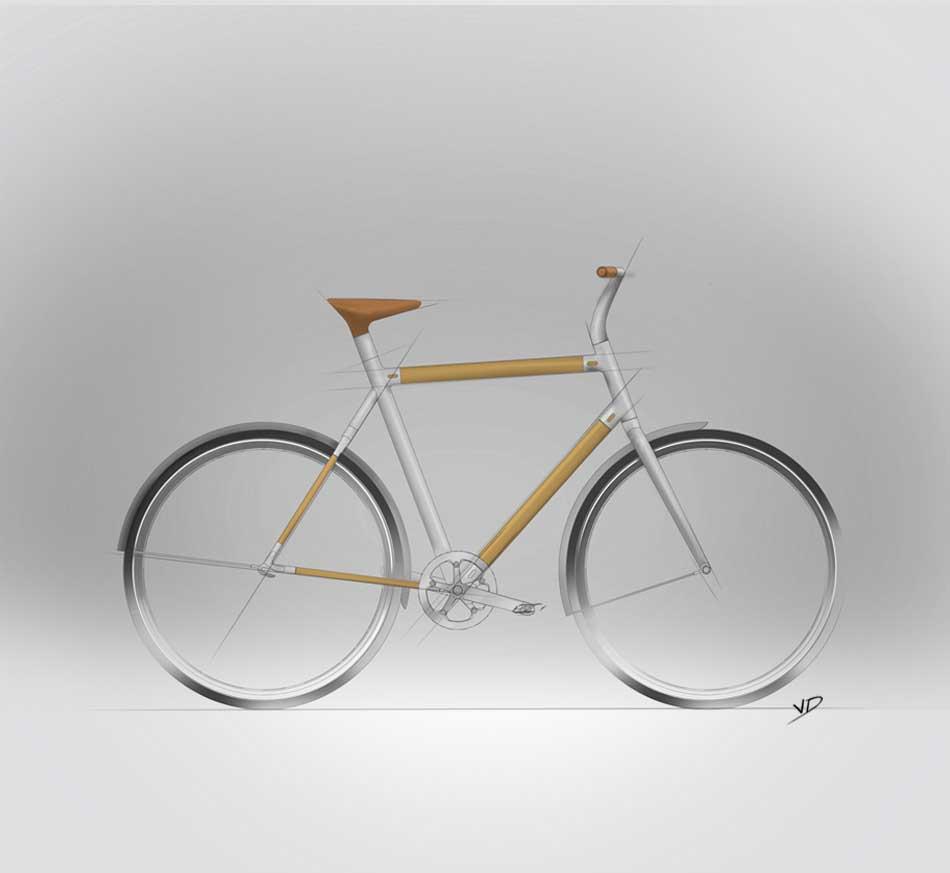 14 octobre 2019 - sketch bambou bike - dessin - vivien - durisotti - design - experience - un - jour - un - dessin