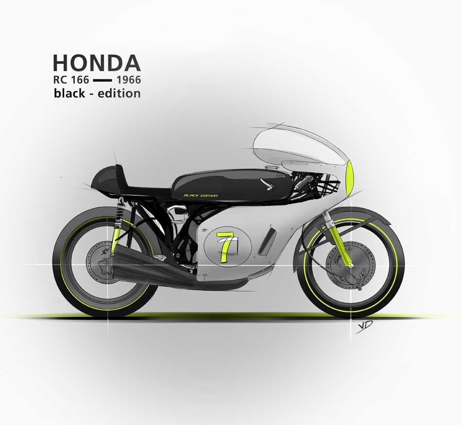 13 novembre 2019 Honda RC 166 - sketch palette couleur - dessin - vivien - durisotti - design - experience - un - jour - un - dessin