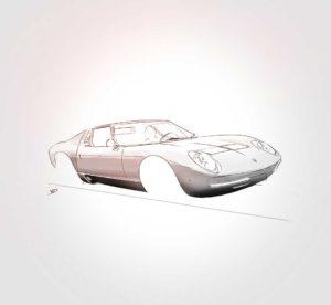 30 septembre 2021 - Lamborghini miura work in progres !!! - design - experience - un - jour - un - dessin - dessin - vivien - durisotti - design - experience - un - jour - un - dessin