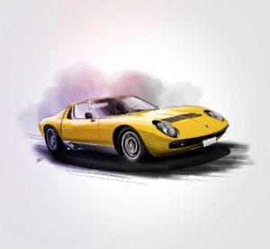01 octobre 2021 - Lamborghini miura work final !!! - design - experience - un - jour - un - dessin - dessin - vivien - durisotti - design - experience - un - jour - un - dessin